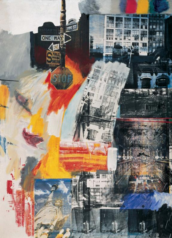 "Robert Rauschenberg,  Estate  (1963). ""Art is a means to function thoroughly and passionately in a world that has more to it than paint."" Rauschenberg was born on this date in 1925."