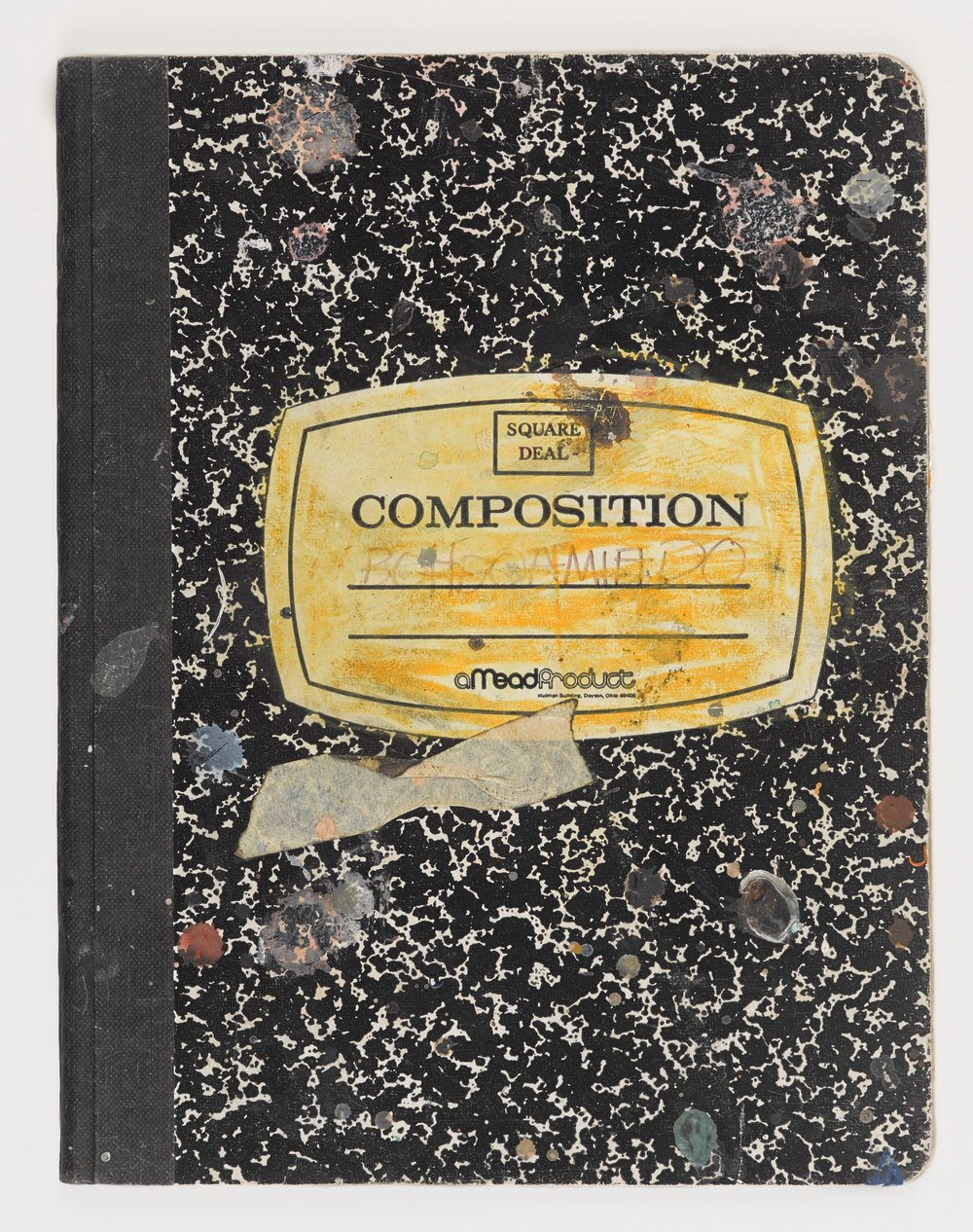 Another Basquiat notebook-- he was most fond of the kinds of everyday composition notebooks used in school. This is a reminder not to overthink the note-taking process. Just start and use your handwritten expression and preferences to guide you.