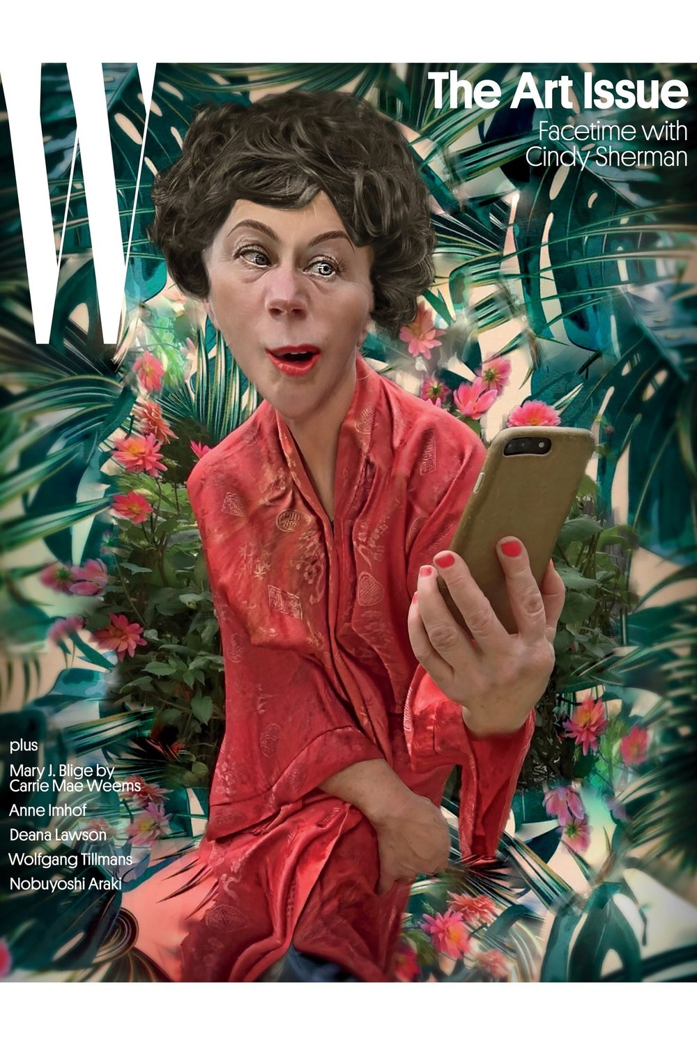 """Facetime with Cindy Sherman: The Artist on Her ""Selfie"" Project for W"""