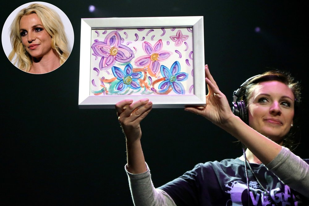 """Britney Spears, Artist, Sells Her First Painting for $10,000"""