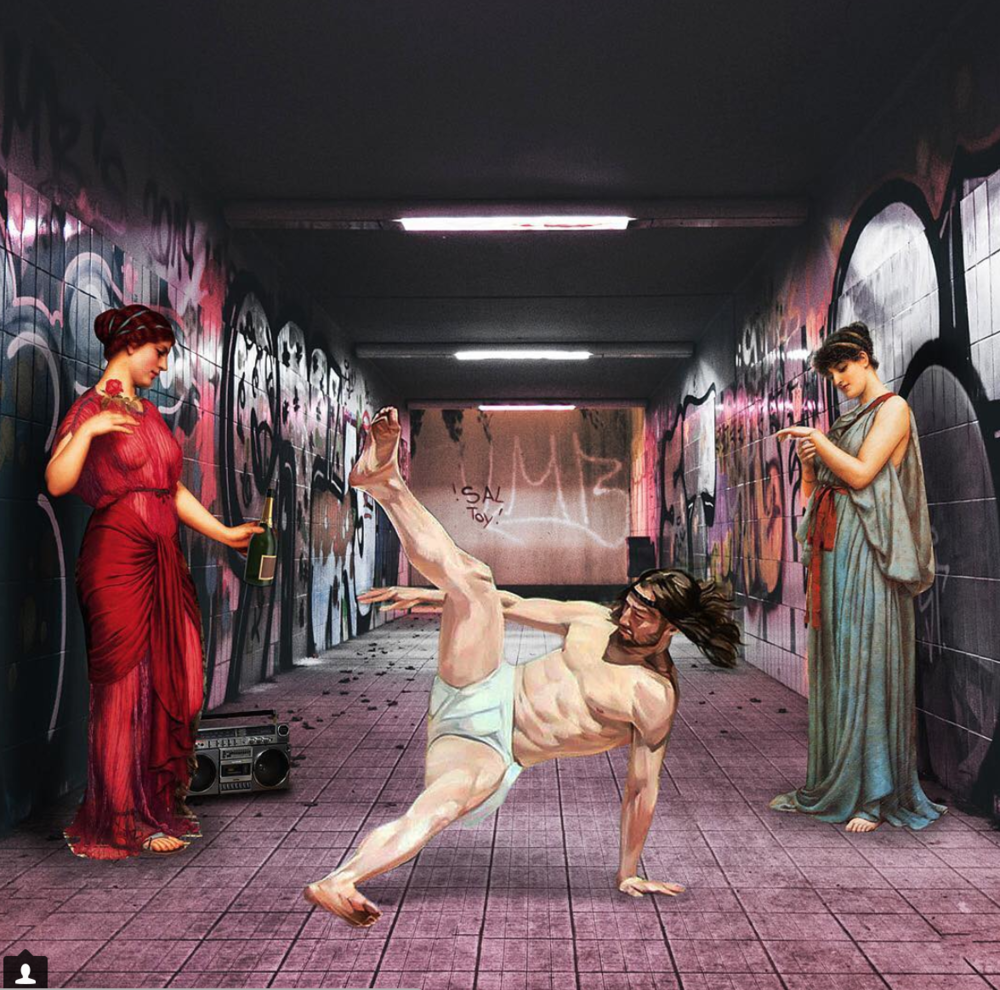 Happy December! What better way to welcome the Christmas season than via breakdancing Jesus, courtesy of Cosmo Sarson