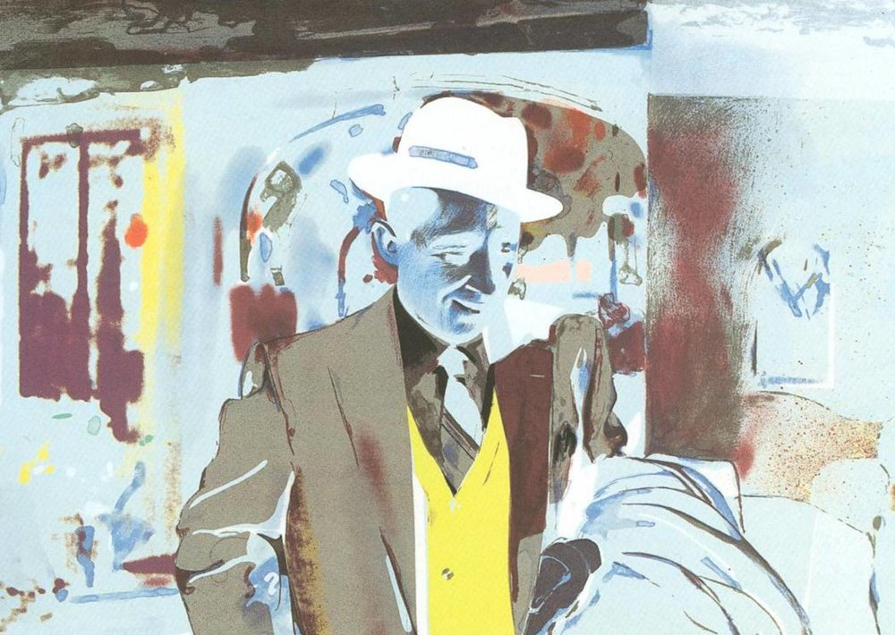 Richard Hamilton, I'm Dreaming of a White Christmas (1967). Based in visual appropriation and the collapsing boundaries between high and low art, Hamilton plays with the process of moving between film still, painting, and printmaking, referencing the 1954 Christmas movie classic.
