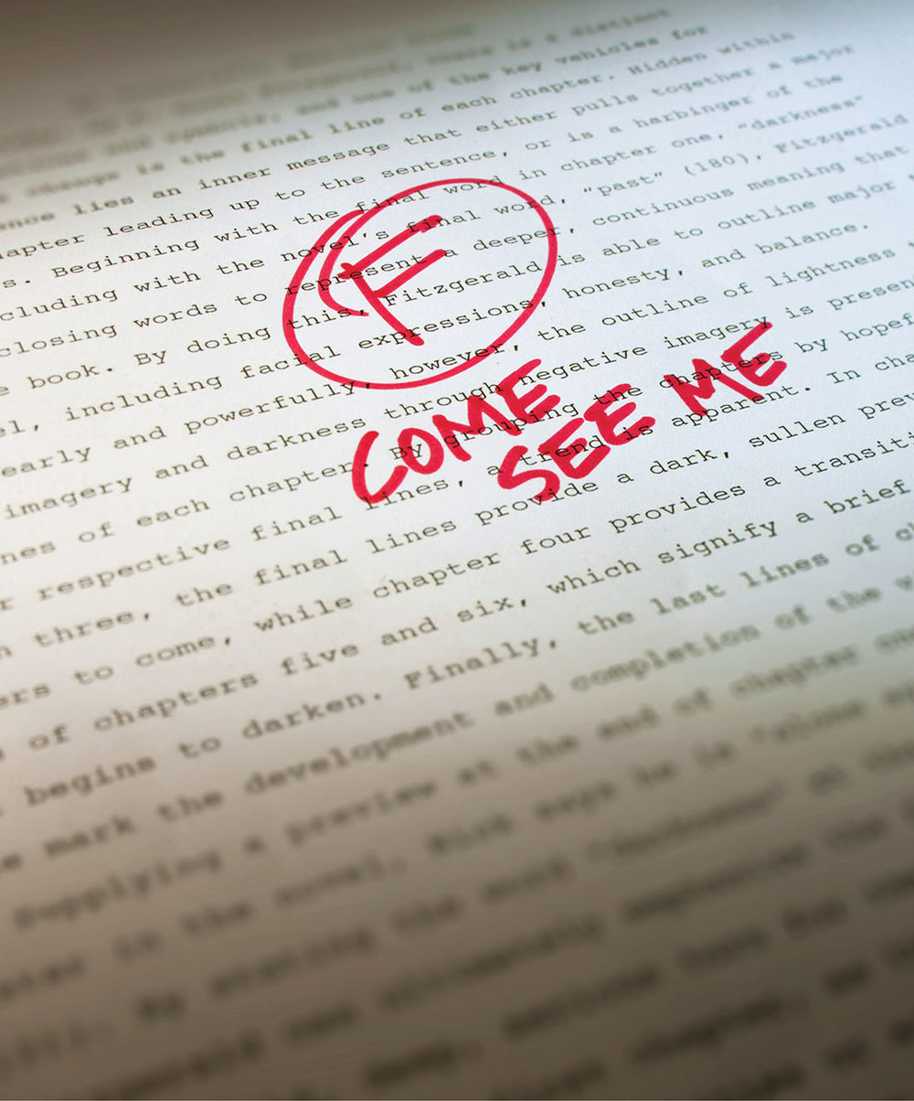 At minimum, a failing grade on a paper is the most common action taken against plagiarism, intended or not.