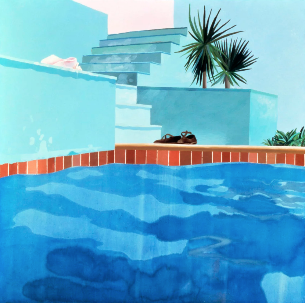 David Hockney, Pool and Steps (1971). When I think of Los Angeles, I think of David Hockney paintings.