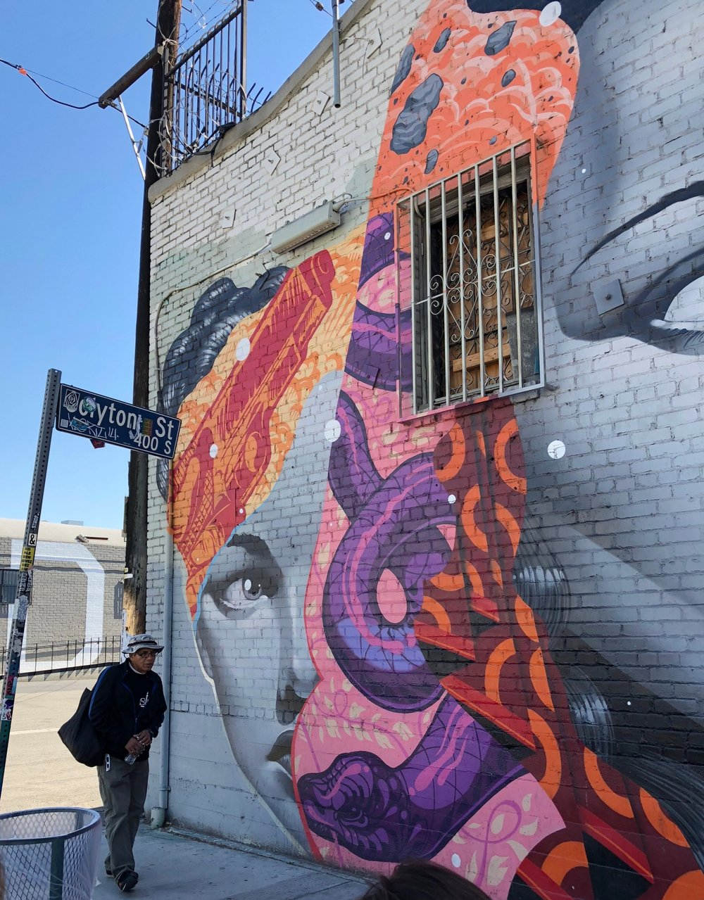 Our guide, Hector Calderon (aka Shandu One), is a pioneering LA street artist and served as our guide on the 2.5 hour tour.