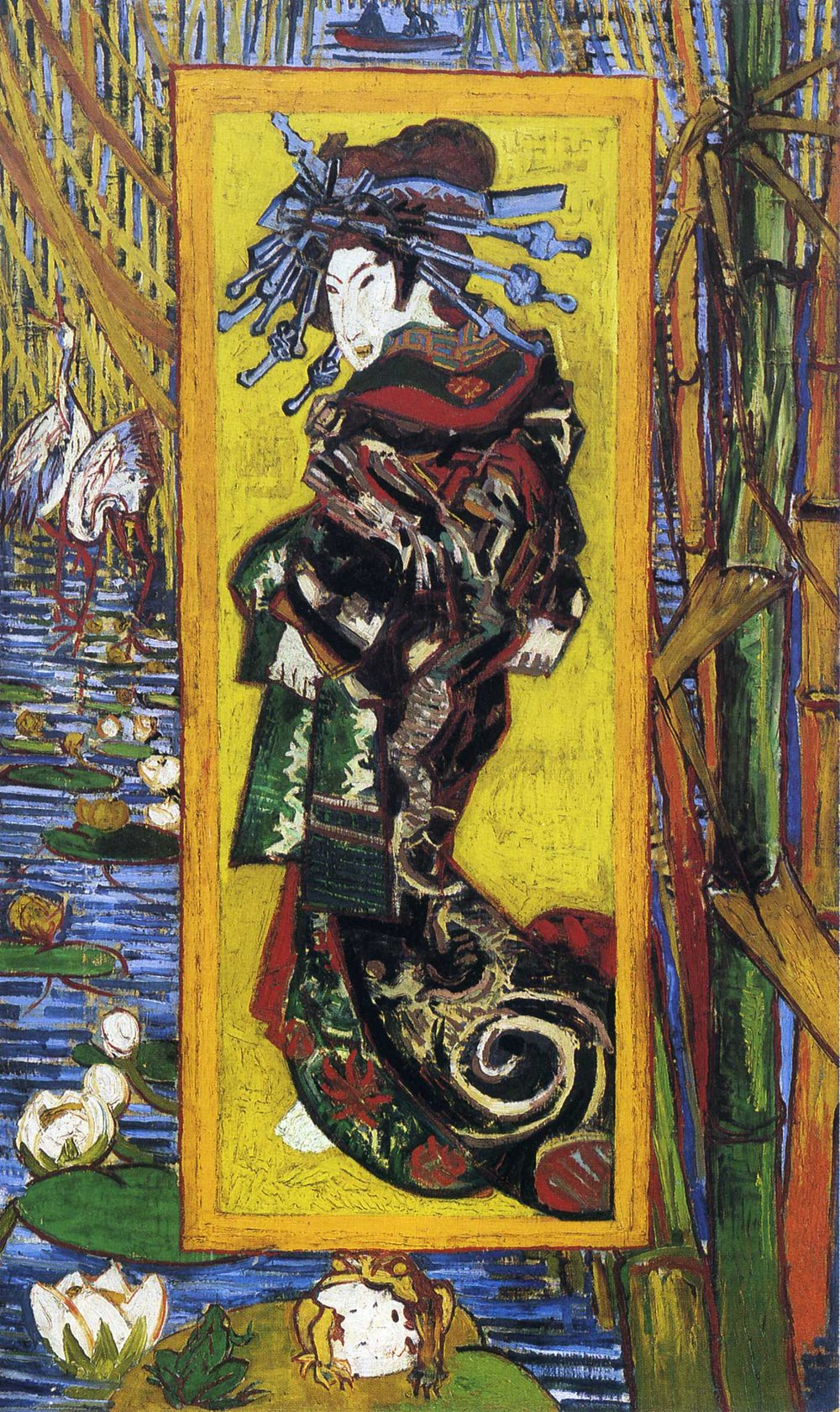 As I am still in the afterglow of my Asia trip, the  Van Gogh and Japan  exhibition in Amsterdam caught my eye. Image: Vincent Van Gogh,  Courtesan (After Eisen)  (1887)