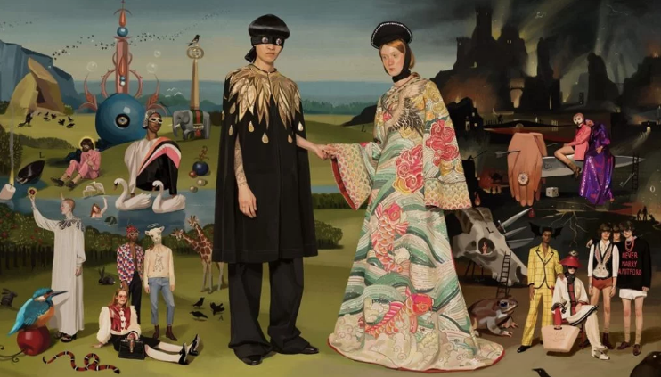 """How One Artist Transformed Old Master Paintings Into a Beguiling Capsule Collection for Gucci"""