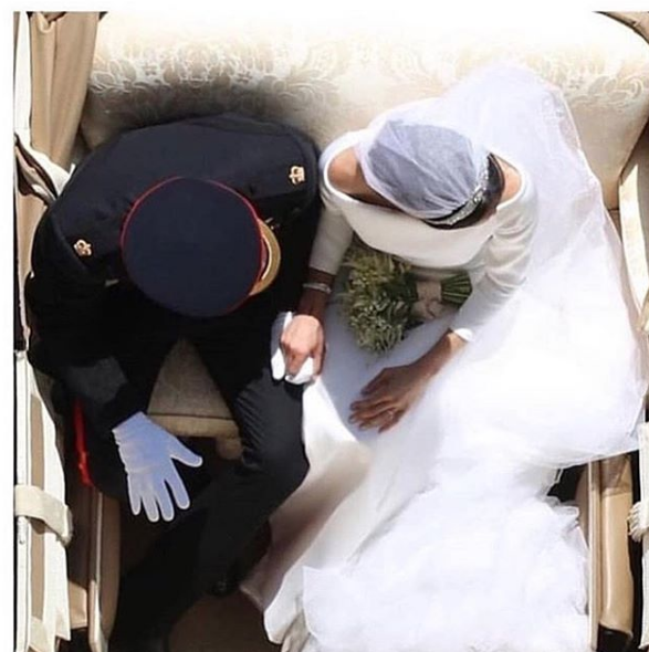 An overhead image captured of the royal wedding couple, Prince Harry and Meghan Markle, was one of millions circulating on social media this past Saturday.