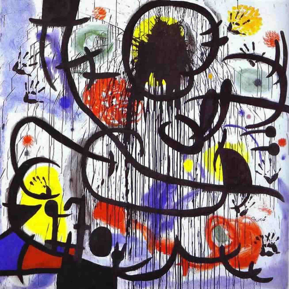 Inspired by the civil unrest in France from  May 2 to June 23, 1968 , Joan Miro created  May 1968  between 1968-1973 (begun, incredibly, when he was 75 years old) as a meditation on the events. This year, the 50th anniversary of events is being commemorated around the world.