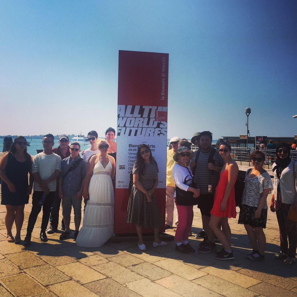 A group photo from our 2015 New York/Venice Biennale Field School