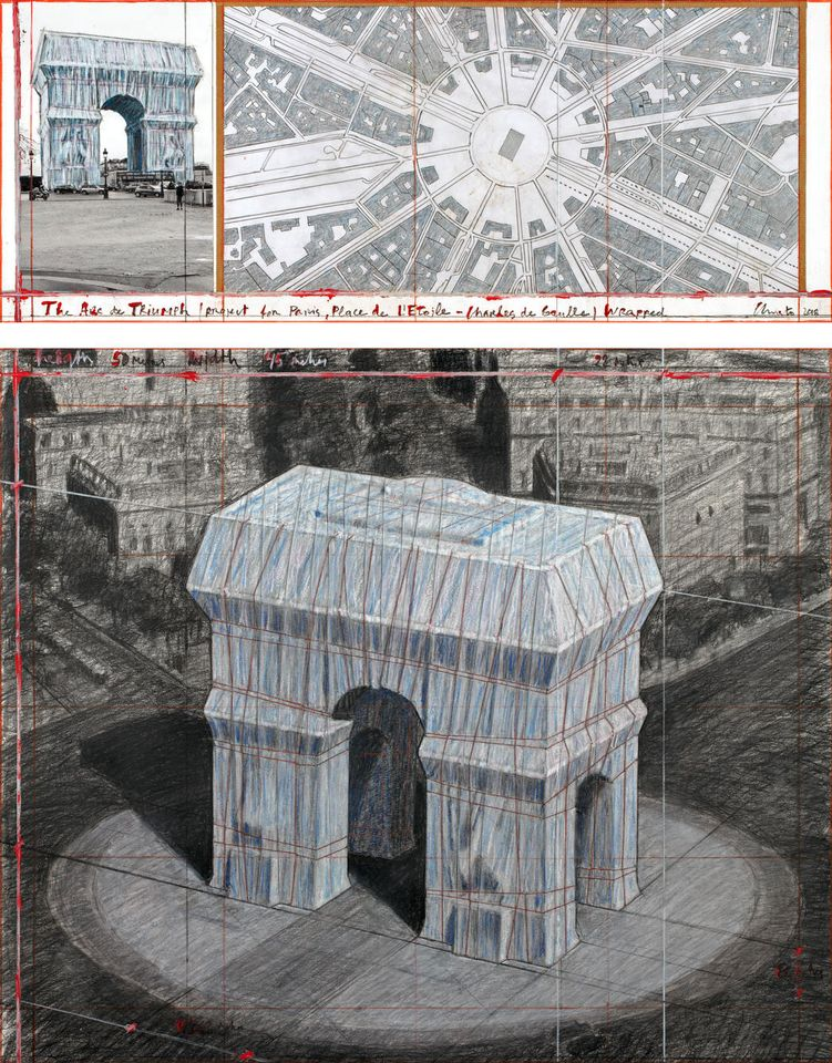 Christo to wrap the Arc de Triomphe in Paris