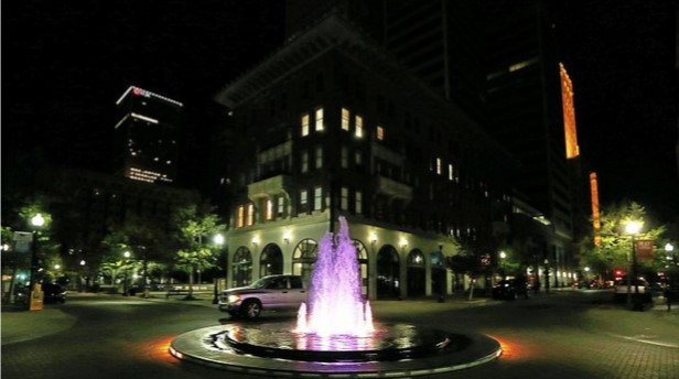 Bartlett Square Fountain