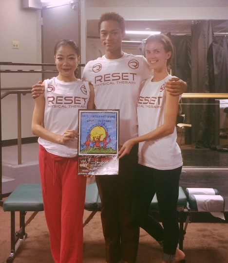 Ying, Abdiel and Lucy of The Martha Graham Dance Company representing Reset Physical Therapy at The Vail International Dance Festival!