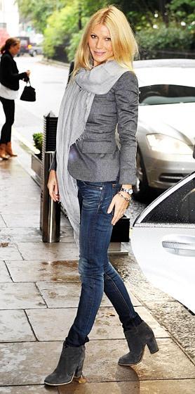 Gwyneth Paltrow Grey Blazer