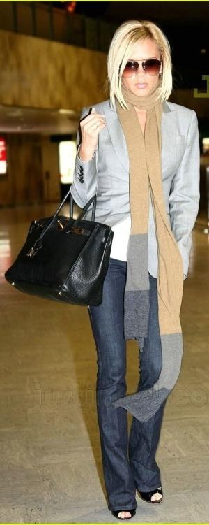 Victoria Beckham Grey Blazer