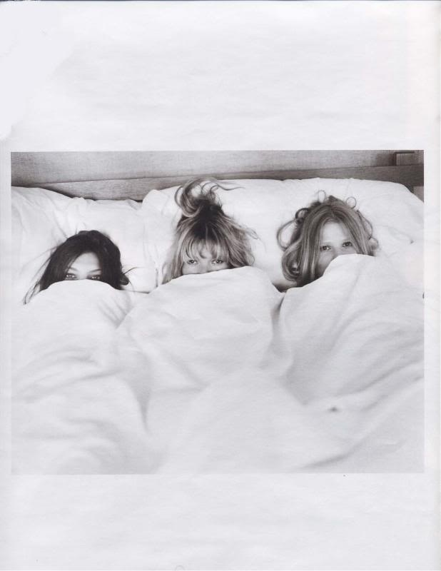 sleepover with Kate Moss