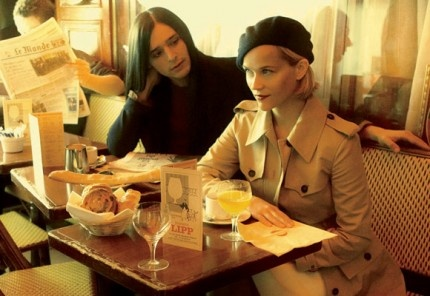Reese Witherspoon and Olivier Theyskens - Vogue in Basserie Lipp, Paris.