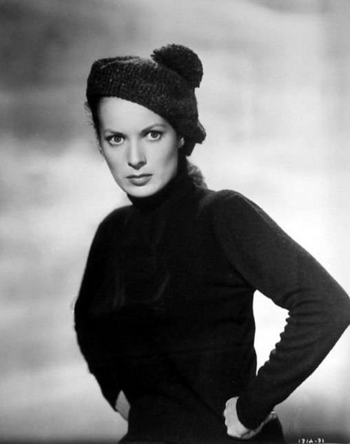 Katherine Hepburn in Black Turtleneck