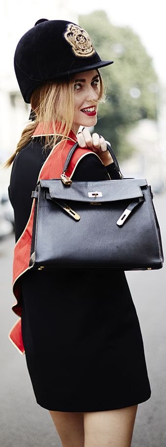 The Blonde Salad's Chiara with an Hermes Kelly