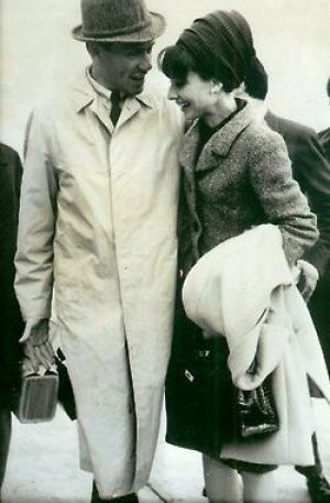 Audrey Hepburn and her croc Hermes Kelly