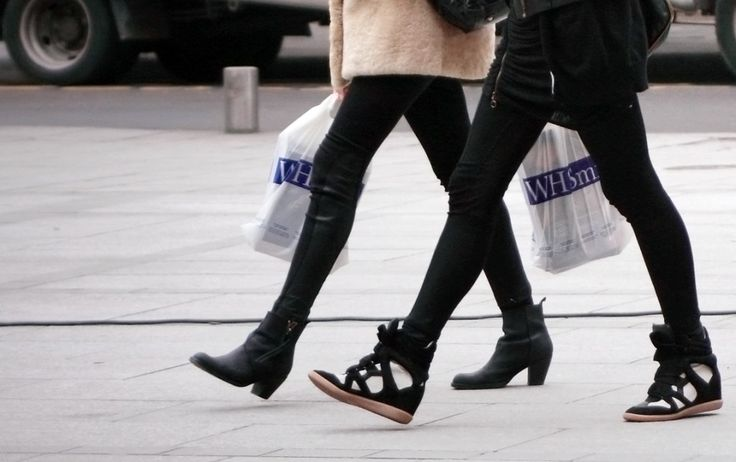 Isabel Marant Wedge Sneaks and Acne Pistol Ankle Boots
