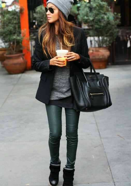 wedge sneakers with leather pants