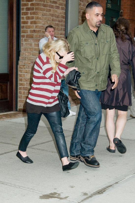Ashley Olsen in newbark loafers