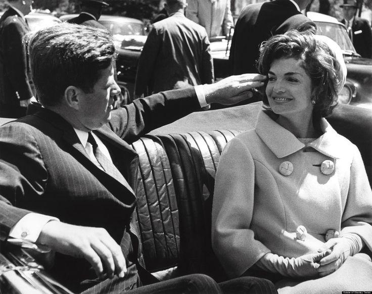 Jackie looking at JFK