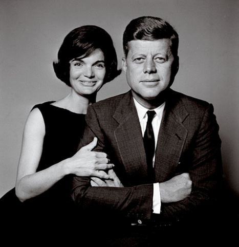 John and Jackie by Richard Avedon