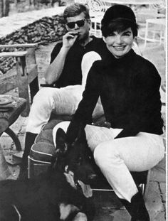 JFK and Jackie post ride