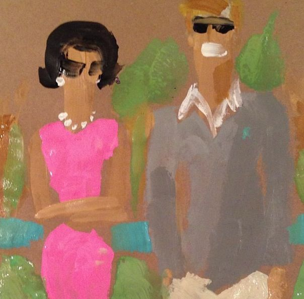 Donald Drawbertson's depiction of the Kennedys