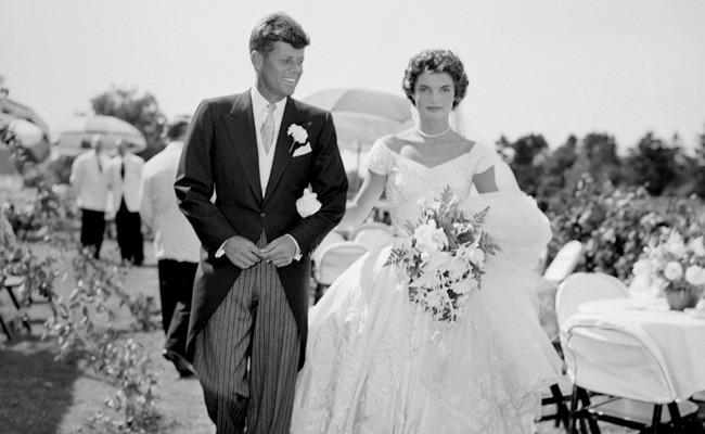 Jackie and John on their wedding day