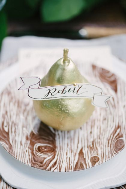 Golden Pear Name tag