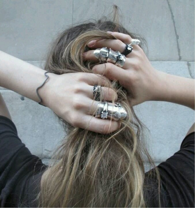 Messy Hair and Bad Ass Rings
