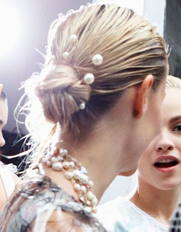 Chanel Pearl Hairpins