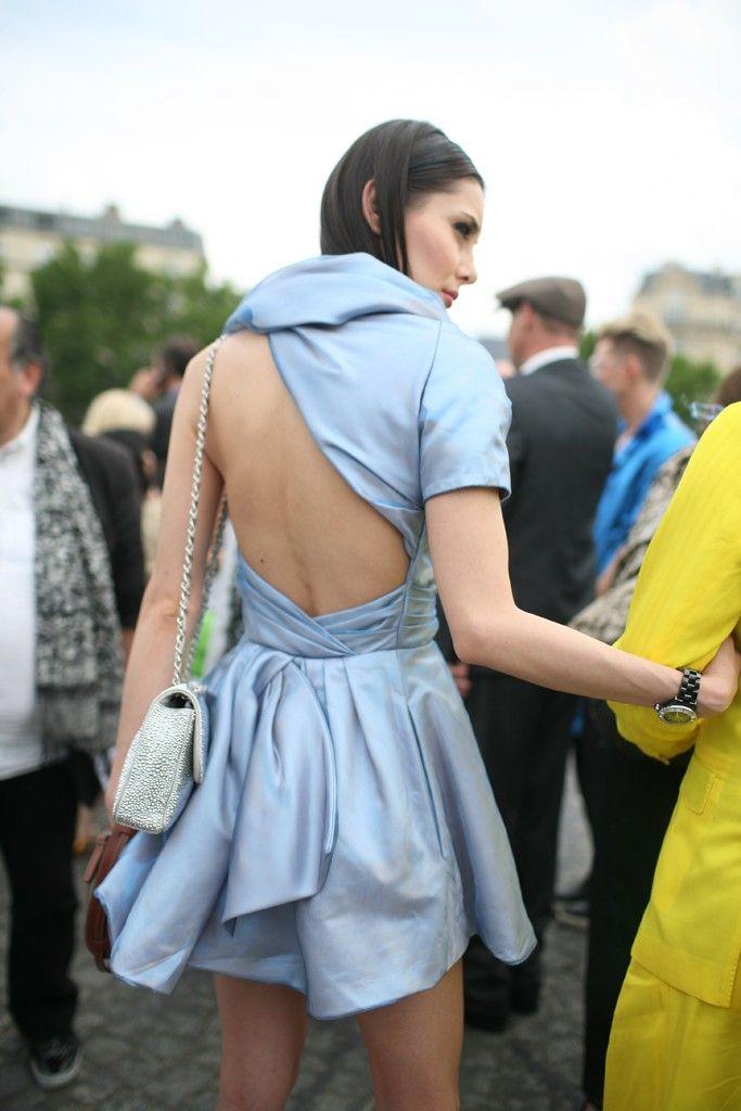 Open Back Silk Party Dress