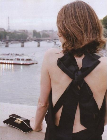 Sofia Coppola Bow Dress in Paris