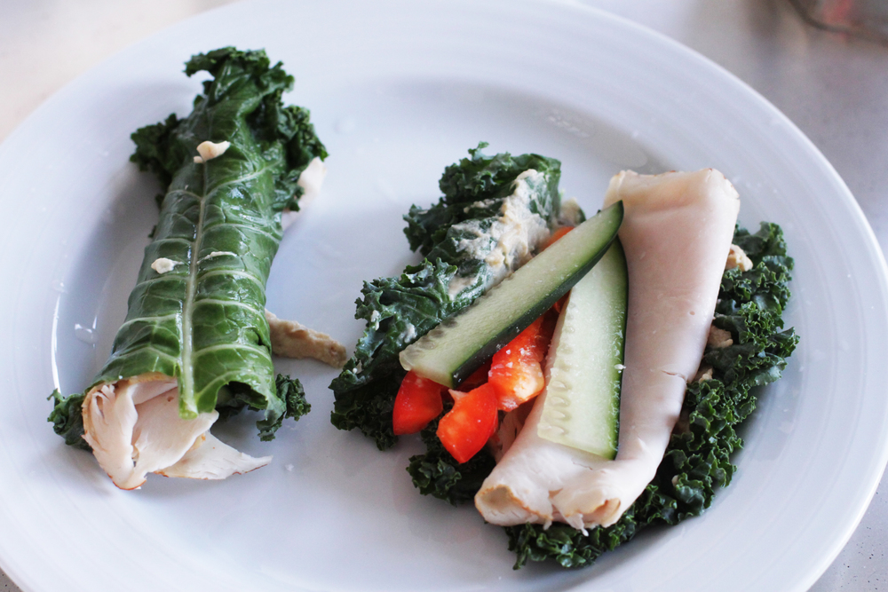 Turkey, Kale Veggie Fashion Wraps