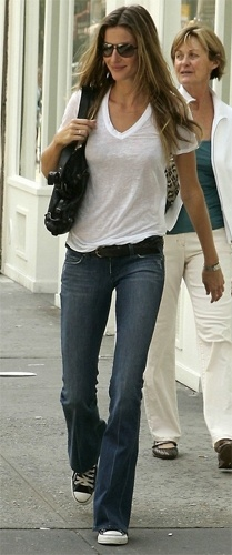 Giselle White Tee and Converse