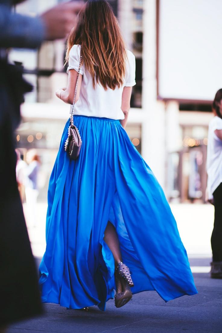 White Tee Shirt and Ballgown Skirt