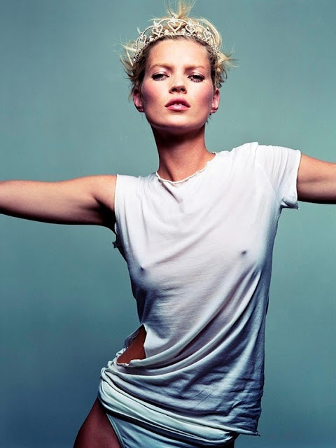 Kate Moss Destroyed White Tee