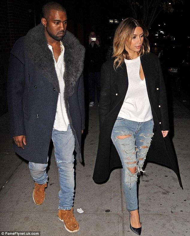 Kim and Kanye White Tees