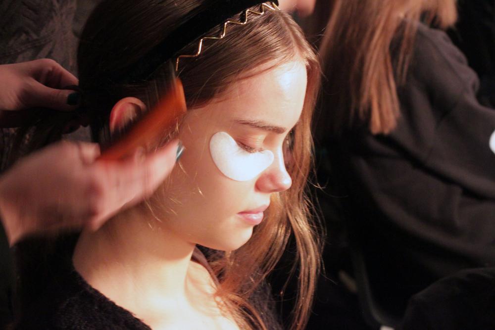 Skyn Iceland Eye Gels backstage at Charlotte Ronson