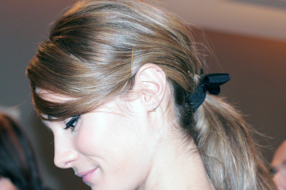 Pony's with Black Bows at Erin Featherston