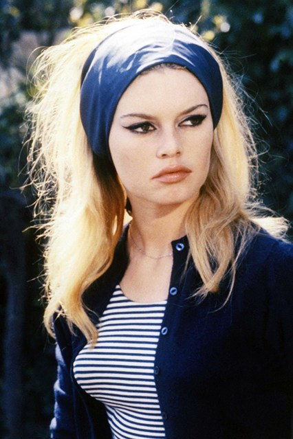 Bardot in Stripes and Cat Eyes