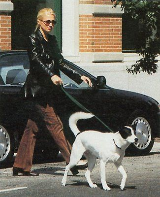 Carolyn Bessette in Corduroy and Leather Blazer