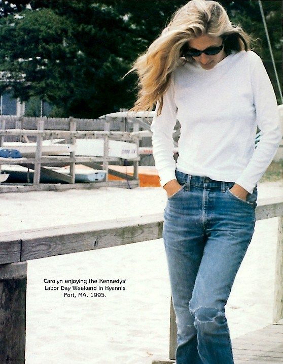 Carolyn in jeans and white tee