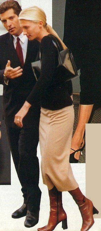 CBK Meet the Press in Calvin Klein Camel Skirt