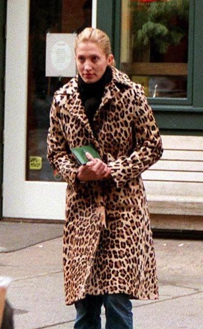 Carolyn Bessette in Vintage Leopard Coat