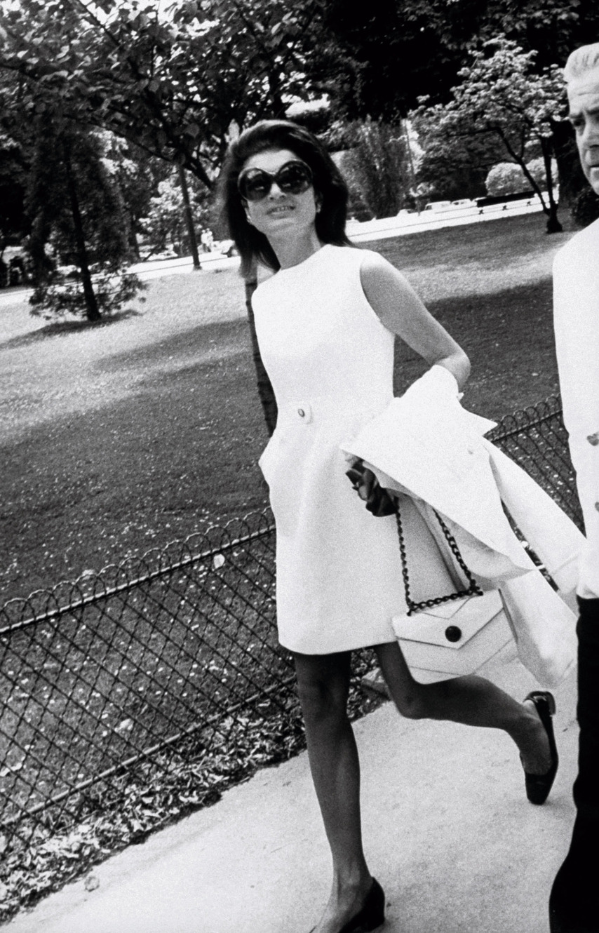Jackie O in central Park in the 70s